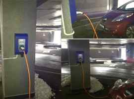 First charging station for electric vehicles was already installed in business center 101 TOWER, Kiev