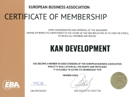 KAN Development joined the European Business Association in April!