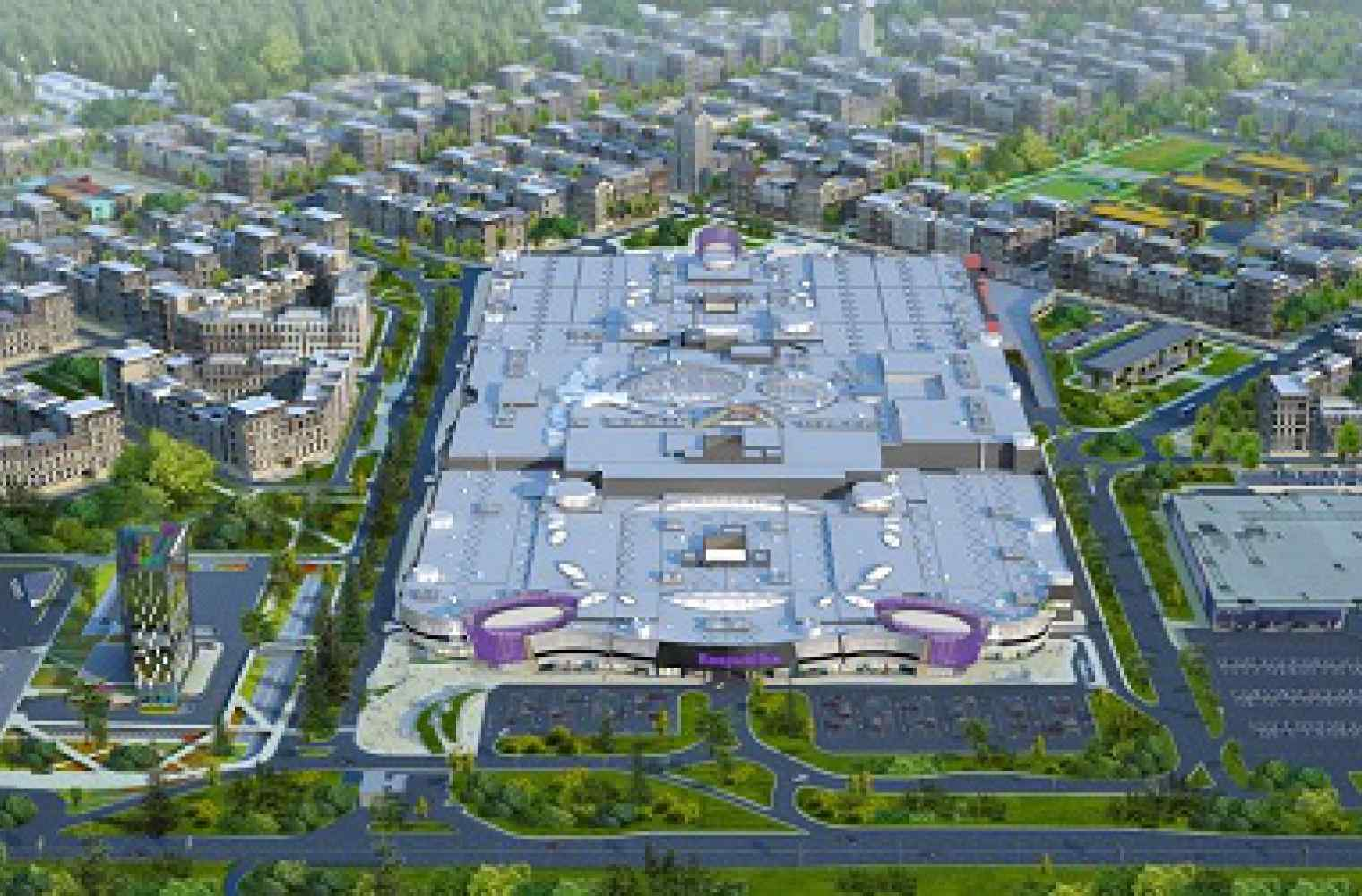 Construction of the biggest shopping and entertainment center in Ukraine is in active progress