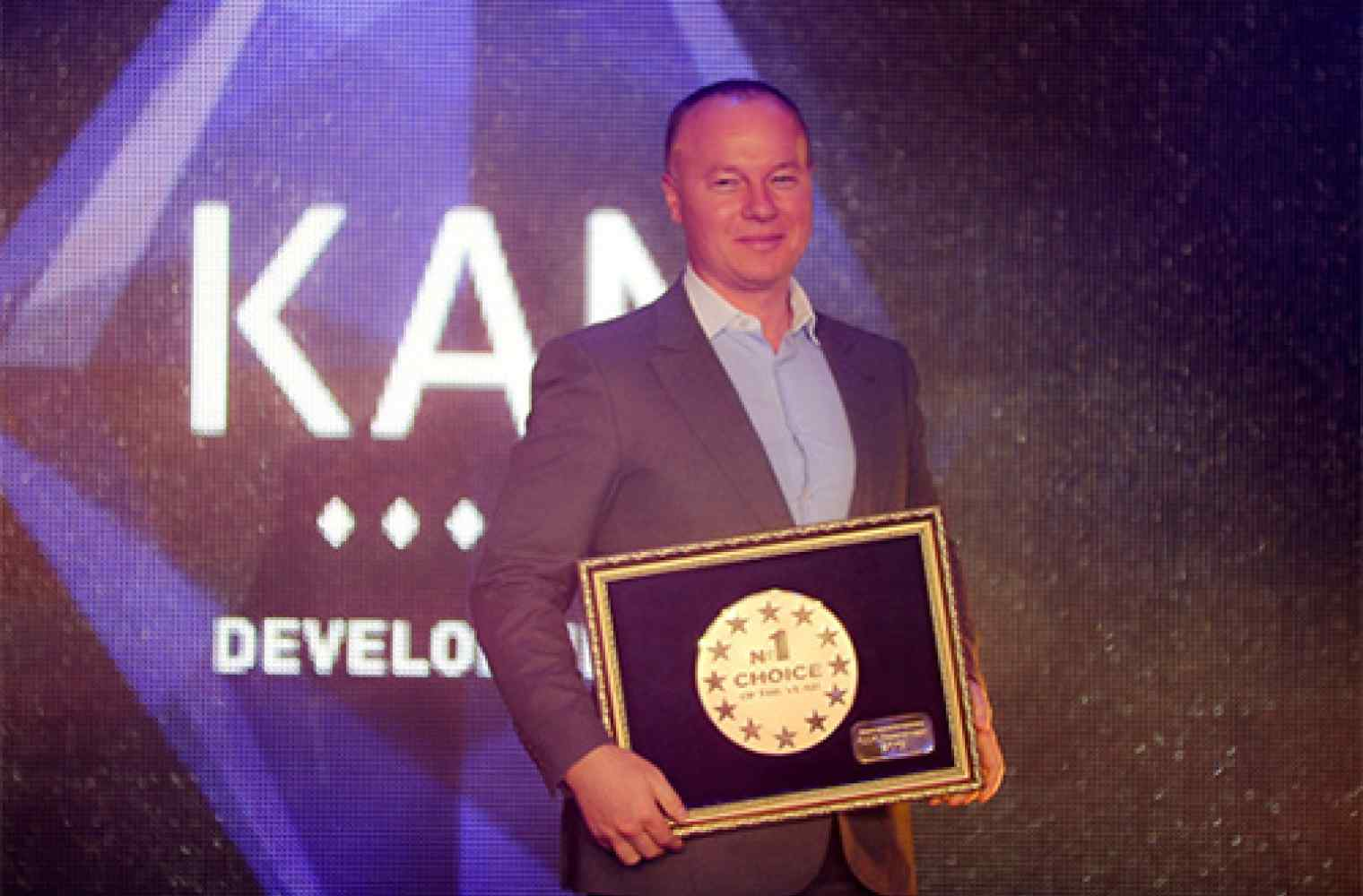 "The KAN Development companies group has won in the category ""Choice of the Year 2015"""