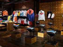 Iconic brand NIKE in Shopping and entertainment center Respublika