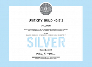 B12 Business Campus Received LEED Certification from American Green Building Council