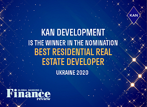 KAN became the winners of the prestigious international award Global Banking And Finance Review 2020 in the nomination Best Residential Property Developer